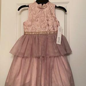 Badgley Mischka Embroidered 2 Tier Tutu Dress